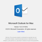 Outlook for Mac 2014